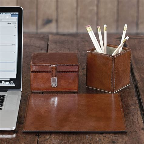 desk accessories for leather desk accessories small attractive leather desk