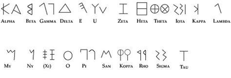 lettere alfabeto greco antico greco alfabetico