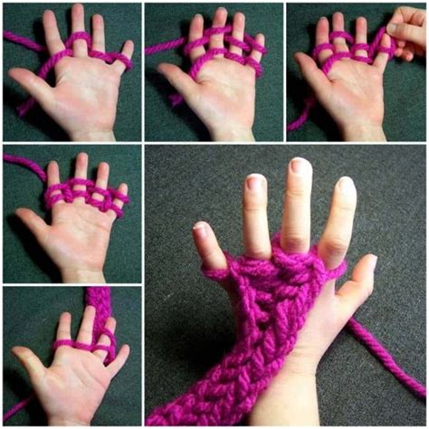 finger knitting instructions beginner projects  whoot