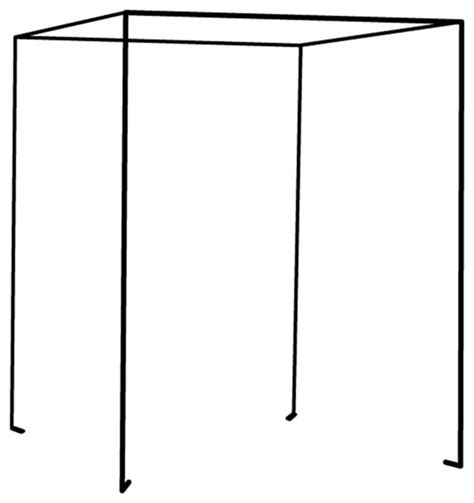 iron four poster freestanding bed canopy fresh white