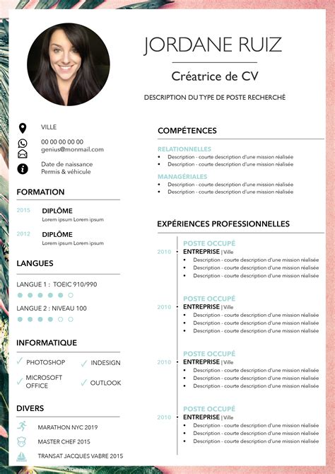 How To Cv by Imagine Mon Cv Cr 233 Ation De Cv Design Tendances