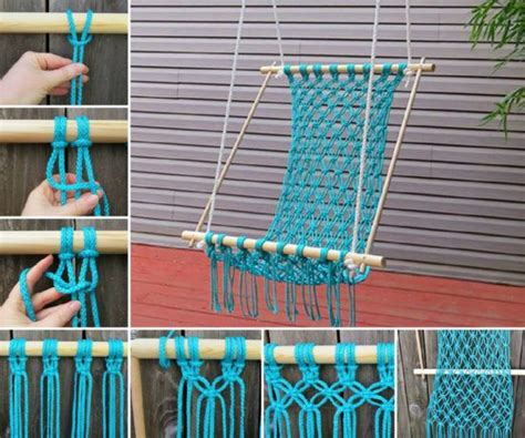 macrame hanging chair diy is easy to make