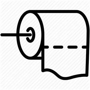 Bathroom, clean, paper, roll, tissue, toilet icon | Icon ...