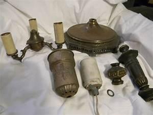 Good shape vintage antique floor lamp parts