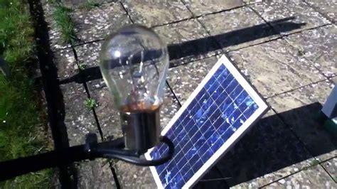 20w solar panel 21w bulb a match part 1