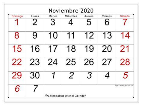 calendario noviembre ds michel zbinden es