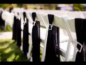 chair sash ideas diy simple wedding chair decorations