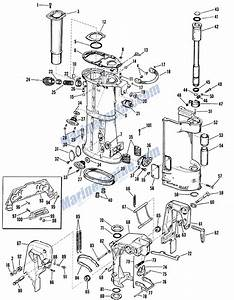 Johnson Lower Unit Group Parts For 1962 40hp Rkl