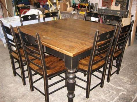 modele de table de cuisine en bois table de cuisine dessus en vieux bois n 1011 le géant