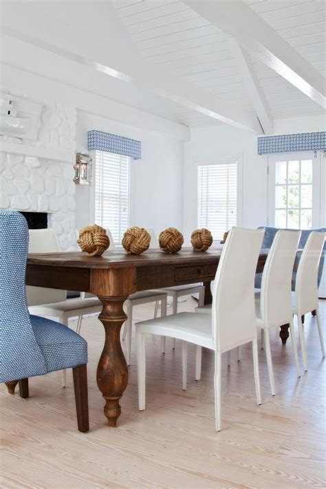 Brown And Blue Dining Rooms  Cottage  Dining Room