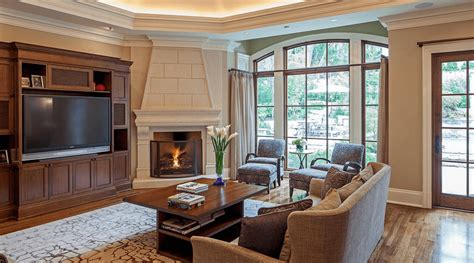 living room with fireplace in corner window treatment ideas for every room in the house