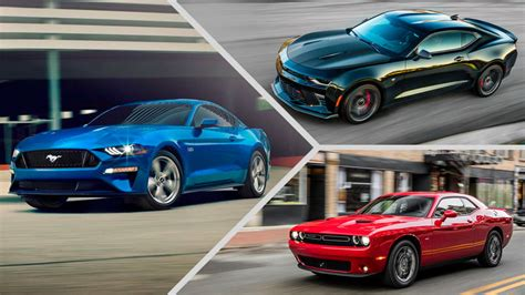 Ford Mustang V. Chevy Camaro V. Dodge