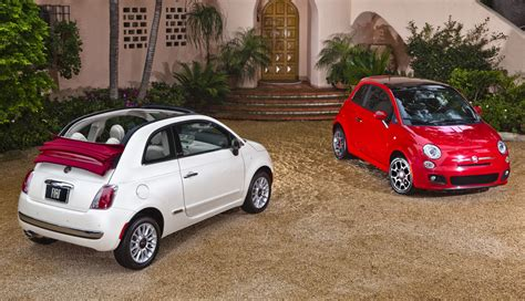 Fiat 500 Per Gallon by 2012 Fiat 500 Cabriolet Best Gas Mileage 4 Seat