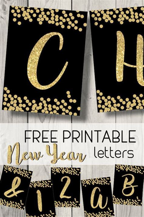 printable happy  year banner letters paper trail