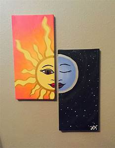 the 25 best small canvas ideas on pinterest small With best brand of paint for kitchen cabinets with sun moon wall art