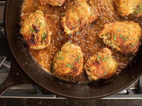 chicken thighs  creamy mustard sauce recipe ina
