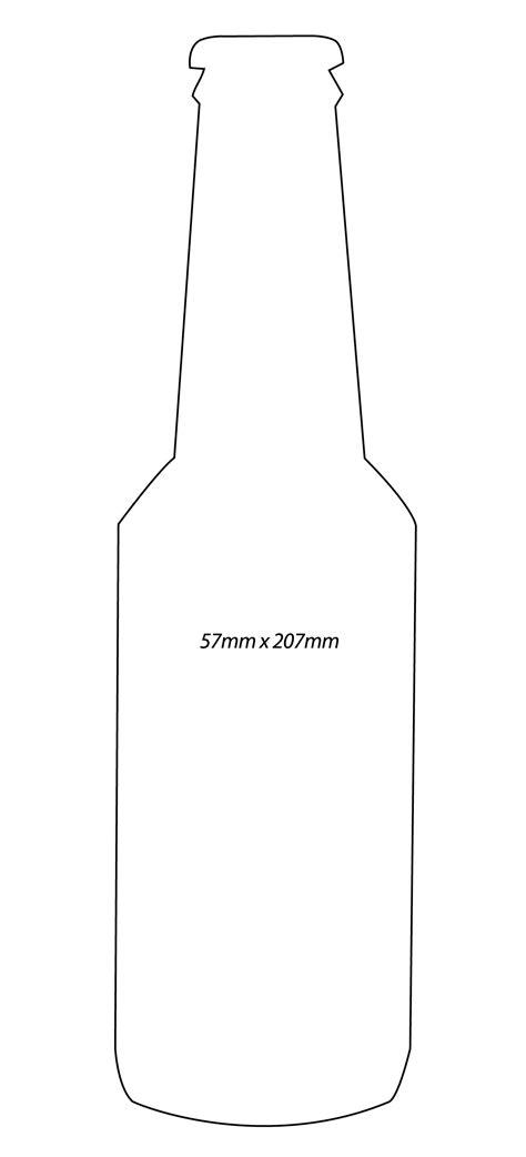 bottle template bottle outline clipart 24
