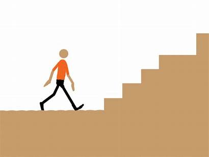 Stairs Walking Stick Animated Climbing Animation Gifs