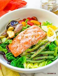 Grilled Salmon Nicoise Salad - Flavor the Moments