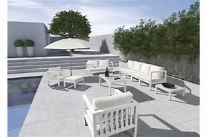 Salon De Jardin Blanc : salon de jardin blanc danica salon de jardin pas cher ~ Teatrodelosmanantiales.com Idées de Décoration