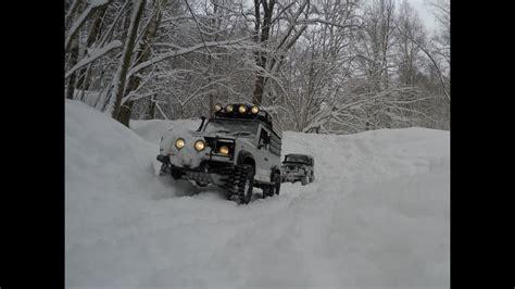 road snow storm land rover defender  defender