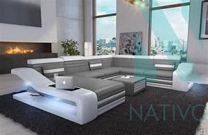 canape mirage xxl ac eclairage led nativo mobilier design With canapé design avec led