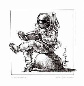 Realistic Astronaut Drawing (page 2) - Pics about space