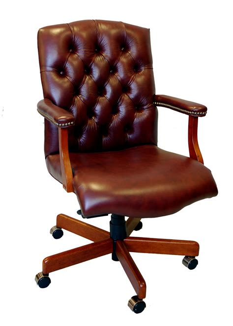 wood and leather desk chair large genuine leather executive office desk chair ebay