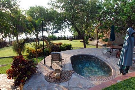 the pool and patio overlooking the gardens picture of