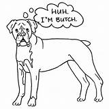 Boxer Coloring Dog Butch Puppy Template Drawing Adult Sheet Getdrawings Templates Place Coloringhome Colorings sketch template