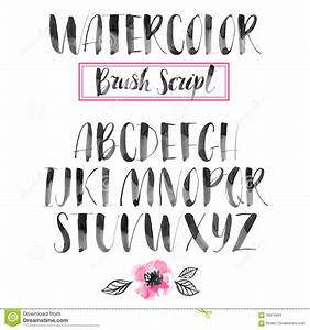Handwritten watercolor calligraphic font modern brush for Modern brush lettering