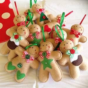 Felt Gingerbread Man Ornament - McJingle Felt
