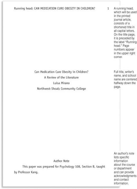 style research paper template marginal annotations   style formatting school