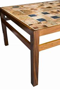 Tue poulsen tile coffee table at 1stdibs for Coffee table with tiles