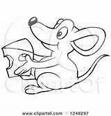 Cheese Mouse Macaroni Clipart Holding Coloring Illustration Royalty Dero Vector Getdrawings Pages Getcolorings Printable sketch template