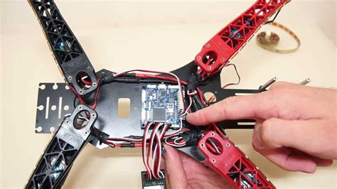 hj450 fpv quadcopter wiring and led light system
