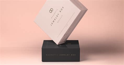 psd jewelry magnetic box mockup psd mock  templates