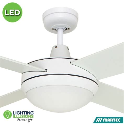 Ceiling Fan With Dimmable Light by White Warm White Martec Lifestyle 52 Quot Ceiling Fan With