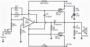 10 Watt Audio Power Amplifier Circuit Diagram