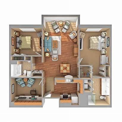 Den Bedroom Apartment Floor Plan Bed Floorplan