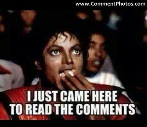 Meme Photo Comments - michael jackson just came to read the comments funny stuff i ve seen in facebook comments