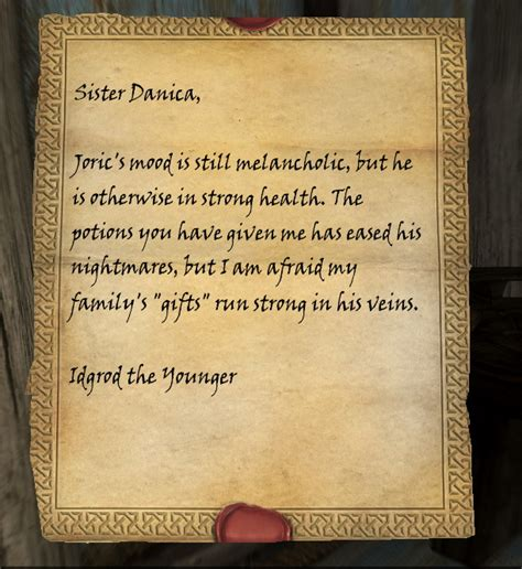 daedric sword collectors edition letter opener the elder idgrod s note elder scrolls fandom powered by wikia 12072
