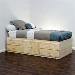 extra long twin storage bed 4 drawers 2 doors in birch