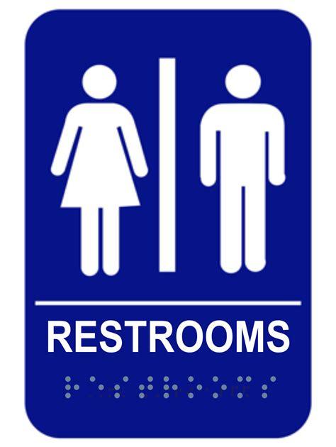 Unisex Ada Braille Restrooms Sign  Custom Signs