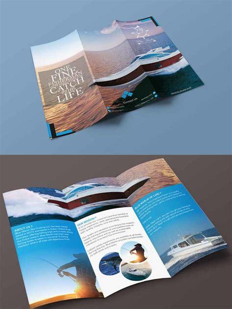 tri fold brochure mockups psd mockuptree