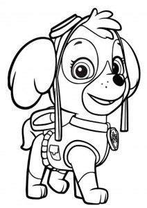 kolorowanka  bajki psi patrol kolorowanki pinterest