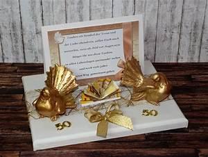 Geschenke Für Hochzeit : geschenk geldgeschenk zur goldenen hochzeit goldene hochzeit 50 tauben ebay ~ Frokenaadalensverden.com Haus und Dekorationen