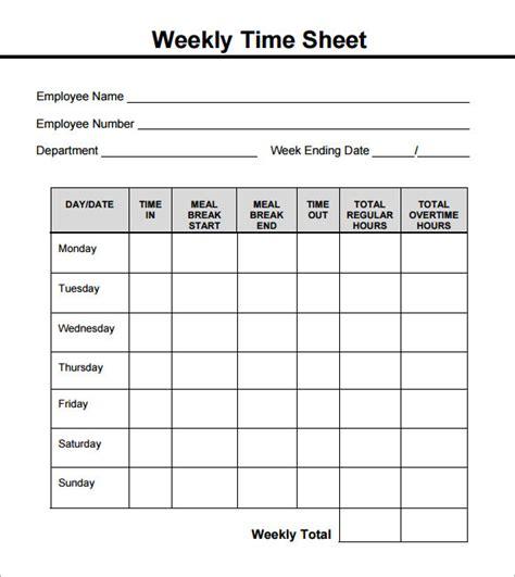 Weekly Timesheet Template Basic Bi Weekly Timesheet Template Templates Resume