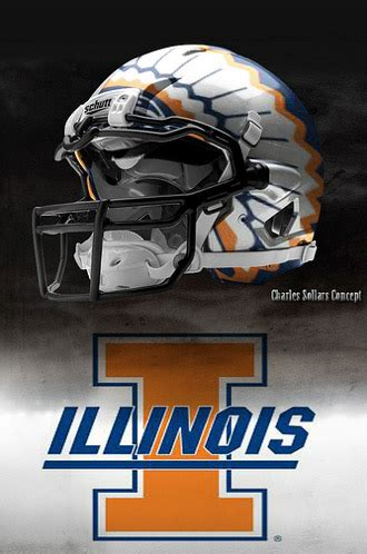 illini football chief illiniwek illinois football helmet