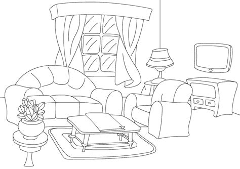 Coloring Living Room by Coloring Pages Livng Room
